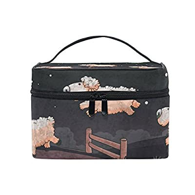 85%OFF OREZI Large Multifuncation Cosmetic Bag Makeup Travel Toiletry Travel Kit Organizer Case with Quality Zipper Portable Three Sheep Jumping Makeup Bag for Women