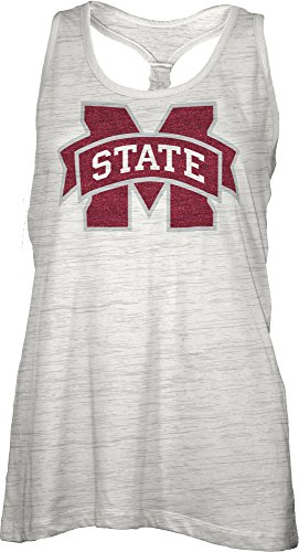 NCAA Mississippi State Bulldogs Bernice Tank Top, - Square Mississippi State Logo
