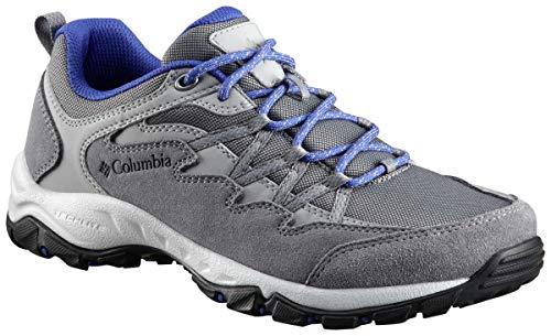 Columbia Women's WAHKEENA Hiking Shoe, ti Grey Steel, Clematis Blue, 7.5 Regular US