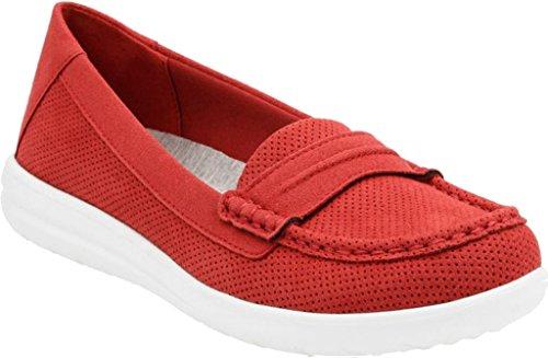 CLARKS Frauen Jocolin Maye Wohnung Rot Perf Textil