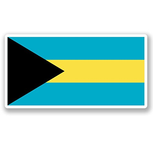 2 x 25cm/250mm Bahamas Flag WINDOW CLING STICKER Car Van Campervan Glass #4411
