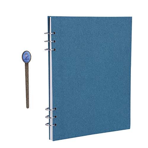 Wirebound A4 Travel Journal Notebook 60 Sheets Side Spiral Blank Sketchbook Unlined Scrapbook Personal Planner Agenda Organizer,Dream Goal Notepads,School Office Stationery Supplies