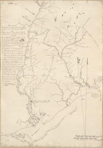 1815 Map Plano borrador del Rio y Bahia de Apalachicola para mejor inteligencia de los partes dados