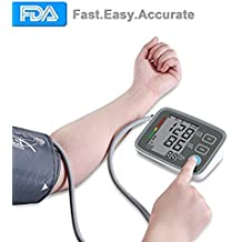 Upper Arm Blood Pressure Monitor, Ann Bully BP Monitor with Memory Storage,Digital Blood Pressure Cuff Machine Automatically Measure Diastolic Systolic with Large LCD Screen
