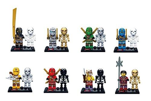 [8 set Lloyd Airjitzua Moro Kai Jay Ninja with skeleton Figure Bricks Blocks Toys] (Chess Player Costume)