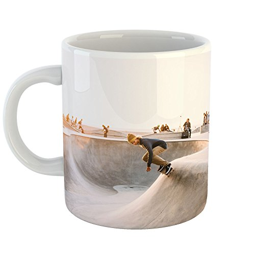 Westlake Art - Skateboarding Sport - 11oz Coffee Cup Mug - Modern Picture Photography Artwork Home Office Birthday Gift - 11 Ounce (013D-7CE9F)