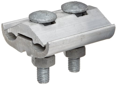 Morris Products 96030 Parallel Groove Clamp, 2 Bolt, Aluminum, 397.5 - 400 CU-AL Main, .728 - .740