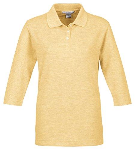 Tri Mountain Women's 3/4-Sleeve Pique Knit Golf Shirt (Plus Size Online)