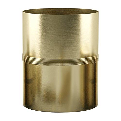 nu steel JW8H Jewel Collection Wastebasket Small Round Vintage Trash Can for Bathroom, Bedroom, Dorm, College, Office, 7.8