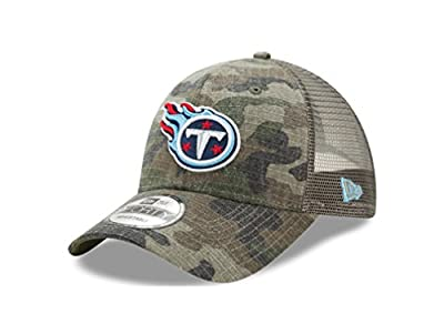Tennessee Titans Camo Trucker Duel New Era 9FORTY Adjustable Snapback Hat / Cap