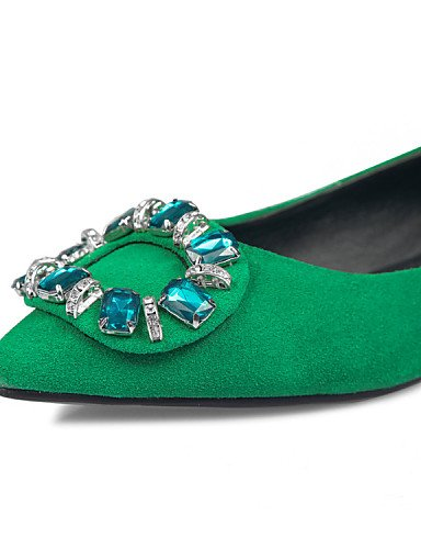 Rosa green señaló libre Toe Pisos mujer 5 aire al Verde talón plano PDX us5 5 cn35 de zapatos lana Casual eu36 de uk3 aaw0Zp