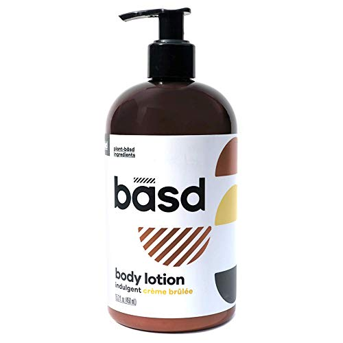 (Basd Body Lotion | Indulgent Crème Brulee | Organic Hydrating Lotion | Plant-Based | Vegan Lotion for Dry Skin | Natural Moisturizer with Shea Butter | Firming Cream | 15.2)