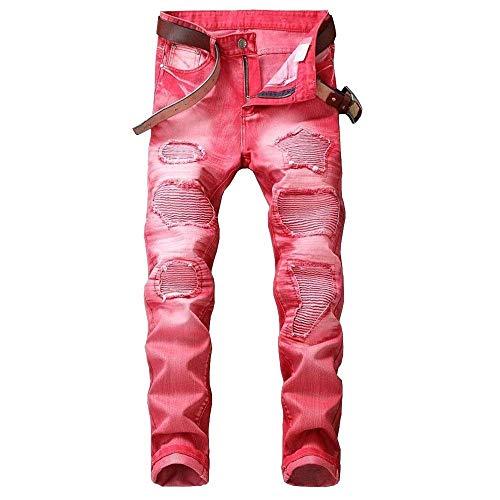 Básicos Regular Denim Streetwear Waist Fit Pantalones Pantalones Ropa Hombres Stretch De Pantalones para Jeans Rot Pantalones Casuales Mid De Mezclilla Mezclilla Bv4wqq