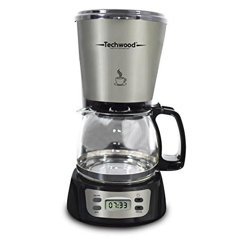 Techwood Cafetière Electrique Programmable, 0.75 Liters