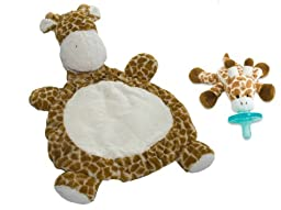 Mary Meyer Bestever Baby Mat with WubbaNub Infant Pacifier, Giraffe