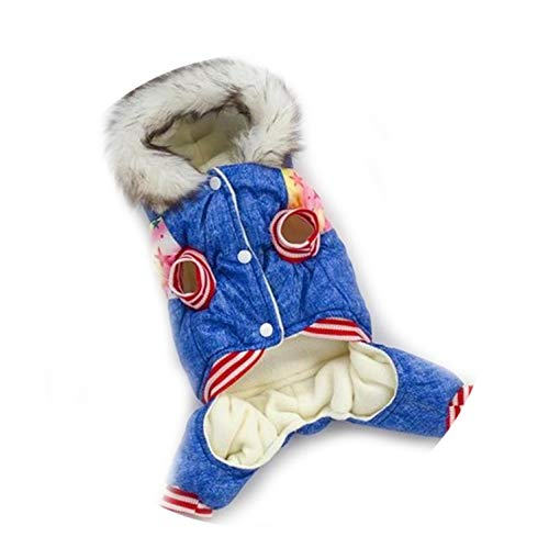 HOT Pet Dog Clothes Coat Winter Warm Outerwear Thicken Dog Costume Clothing Wadded Jacket Pet Cat Product -