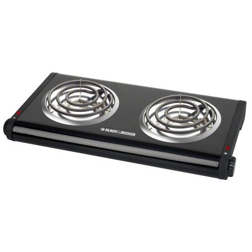 Review BLACK+DECKER Double Burner Portable Buffet Range, Black, DB1002B