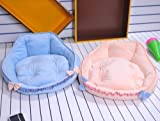 Medium Dog Bed New Cute Princess Soft&cozy Pet Dog Cat Sofa Bed House Kennel Blue,beige Size M Cat Pet Beds (Beige)