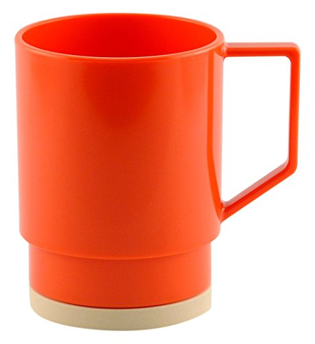 Galleyware Salmon Melamine Non-Skid Nesting Mugs, Set Of 6