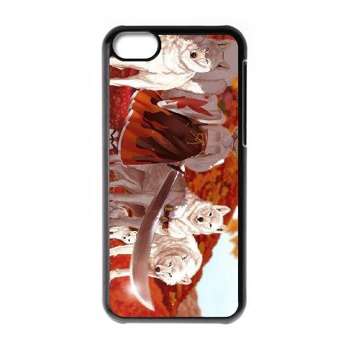 E3B28 Ses loups et ses P4X4HY cas d'coque iPhone de téléphone cellulaire 5c couvercle coque noire RX6PTD6EG