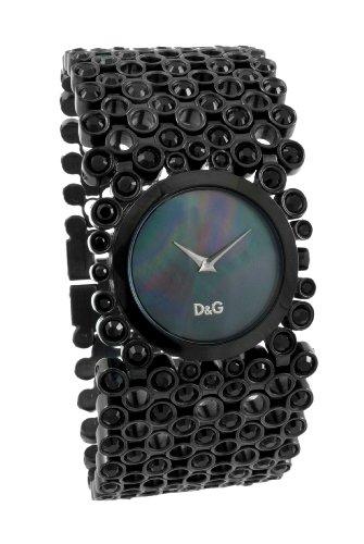 Gabbana Time Watches (Dolce & Gabbana D&G Ladies Watch RISKY DW0243 DW0244 DW0245, Color: Black, Size: One Size)