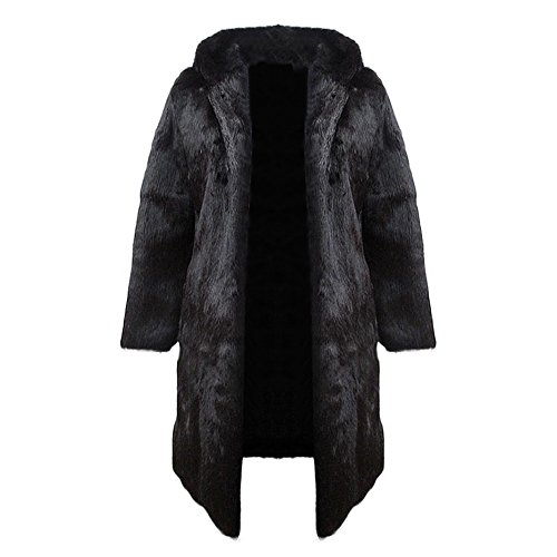 Men's Real Rabbit Fur Coat Long Winter Hoodie Jacket for sale  Delivered anywhere in Canada