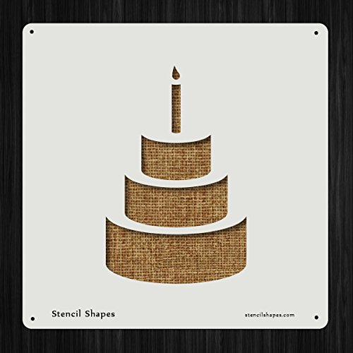 Birthday Cake Baking Candle Dessert Style 10861 DIY Plastic Stencil Acrylic Mylar Reusable by StencilShapes