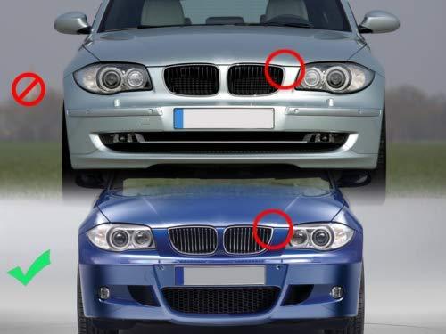 Color Negro Mate FidgetGear Rejilla para BMW E87 Serie 1 04-07 143 HP