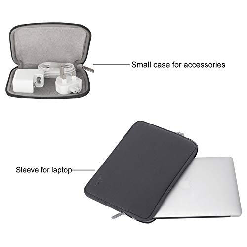 MOSISO Laptop Sleeve Compatible with MacBook Air 13 inch A2337 A2179 A1932, 13 inch MacBook Pro A2338 A2289 A2251 A2159 A1989 A1706 A1708,Water Repellent Neoprene Bag with Small Case, Space Gray