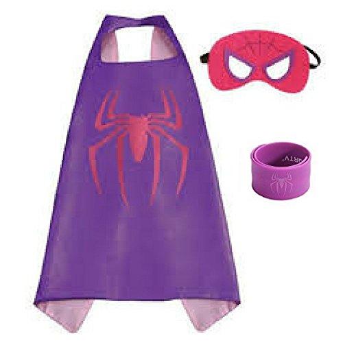 Honey Badger Brands Dress up Comic Cartoon Superhero Costume (Spidergirl with Snap Bracelet)