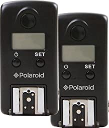 Polaroid 2.4GHz 99 Channel Wireless Remote Flash Trigger System / Wired & Wireless Shutter Release With LCD Compatible With The Canon Digital EOS Rebel SL1 (100D), T5i (700D), T5 (1200D), T4i (650D), T3 (1100D), T3i (600D), T1i (500D), T2i (550D), XSI (45