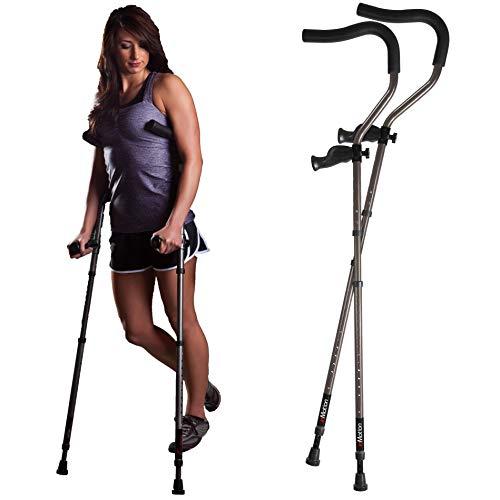 Millennial Medical in-Motion Pro Ergonomic Folding Crutch,...