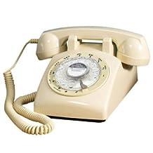 Retro 1960s Ivory Rotary Dial Telephone