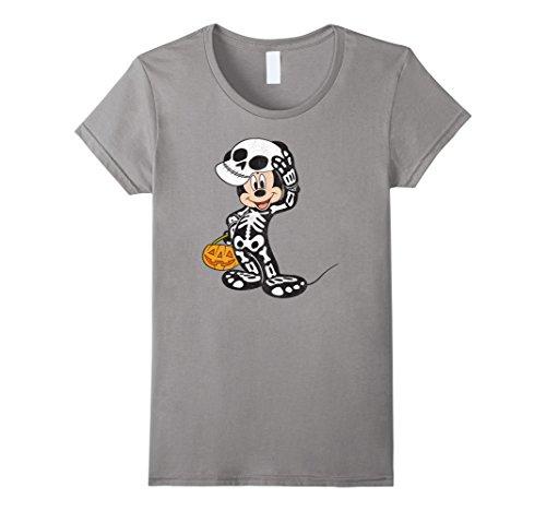 Womens Disney Mickey Mouse Skeleton Costume T Shirt XL (Mickey Mouse Costumes T-shirt)
