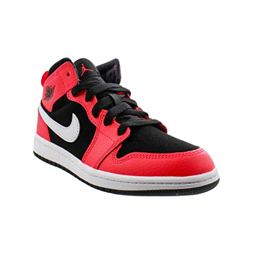 Jordan 1 Mid Black/Infrared 23-White (PS) (2.5 M US Little Kid) (Jordan Kids Shoes 23)