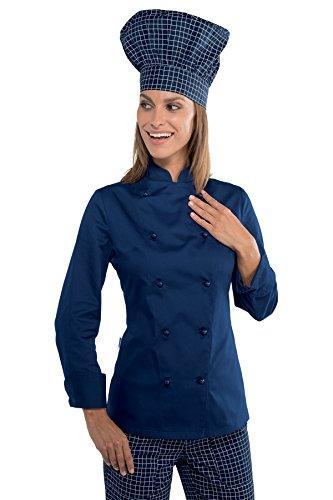 Grand chef ISACCO bleue Lady Bleu Veste cuisine I44wt6