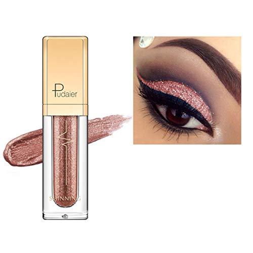 Chiak 1 Pcs Portable Waterproof Long-Lasting Glitter Eyeshadow Liquid Eyeshadow