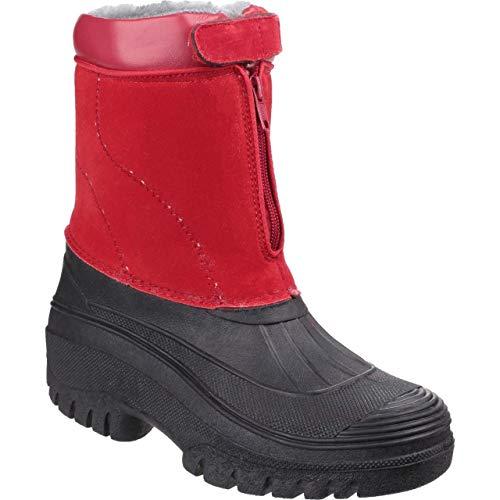 Winterfutter 35 Rot mit Gummistiefel Winter Venture 46 Regenstiefel wasserdicht Reißverschluss Cotswold Damen Größe F16YxwHqq