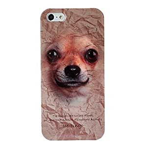 LX Animal Series Cute Goosy Pets Dog Pattern Plastic Case for iPhone 5/5S Phone Cover