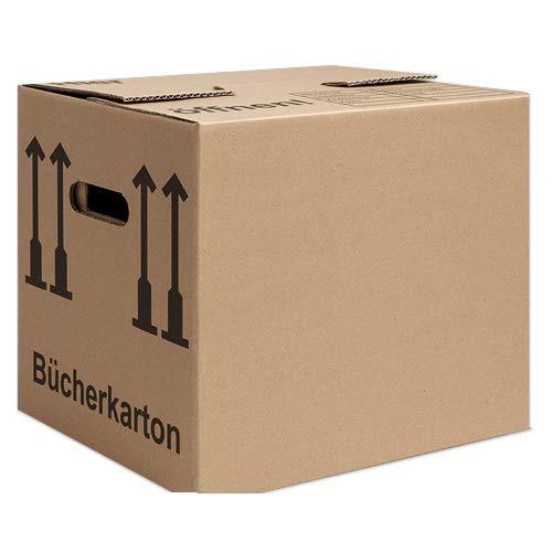 Umzugs Bücher Versandkartons 500x400x300 2-wellig 2.40 BC-Welle stark 20 St