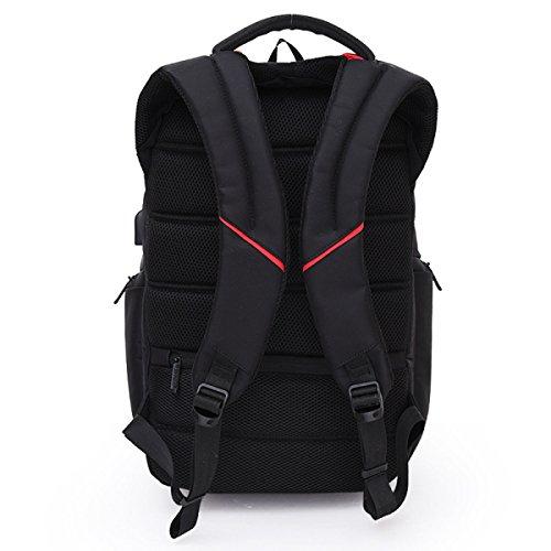 Backpack Usb Outside Business Black Laptop Bag 6Fzcx0