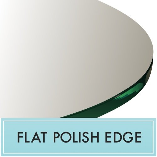 20'' Round Glass Table Top 1/2'' Thick Flat Polished Edge