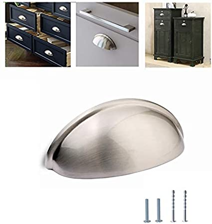 Kullavik 10-Pack Mordern Cabinet Hardware 3-11//16 Bin Cup Drawer Handle Pull 3 Inch 93mm Hole Centers,Flat Black 3 Inch Hole Centers 76mm 76mm