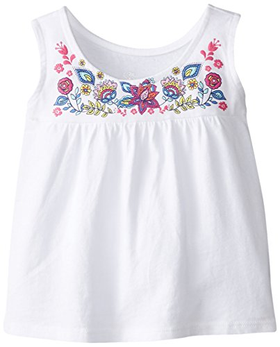 The Children's Place Baby Girls' Embroidered Yoke Tank