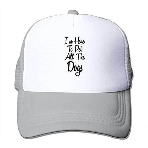 Men Women Hip-Hop Street Mesh Hat I'm Here to Pet All The Dogs Outdoor Baseball Hat