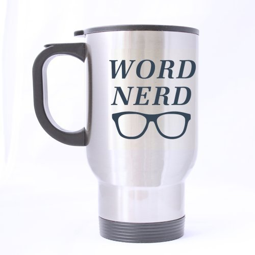Cool-Word-Nerd-Stainless-Steel-Travel-Mug-Silver-14-ounces