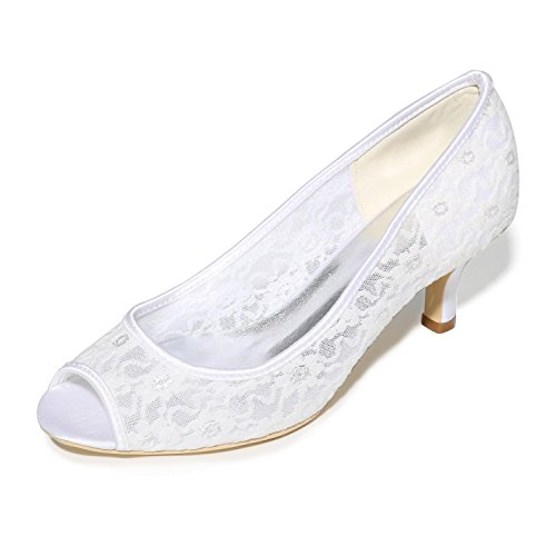White Fall amp; Spring Stiletto Heel Party T Summer Evening Black Lace Wedding Women's YC Strap Pink White Blue L BIxCqvUB