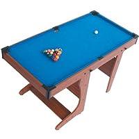 Riley PT20-46D Pool Billardtisch klappbar (inkl. Spielzubehör, 2 x Queue,...