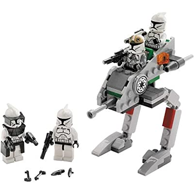 """Lego Star Wars Movie Series """"The Clone Wars"""" Battle Pack Set # 8014 - Clone Walker with 2 Clone Troopers, Clone Gunner, Clone Commander and ARC Trooper Gear (Total Pieces: 72)"""