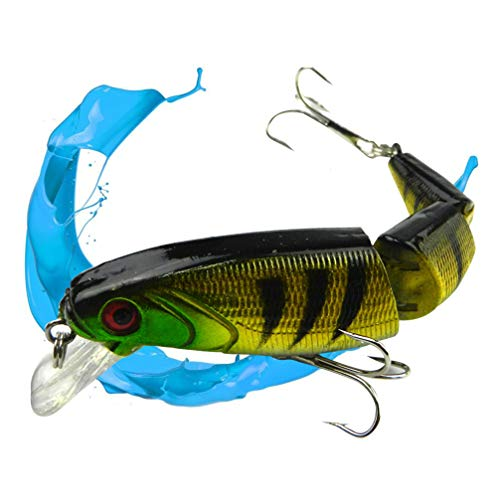 BESPORTBLE Swimbait Fishing Lures Flexible Crankbait Bait Hooks Fishing Tackle Tool for Pike Yellow Perch Bass Walleye (Giant Fishing Lures For Pike)